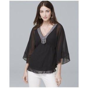 White House Black Market • embellished kimono top